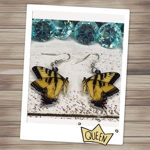 MacHale Acrylic Butterfly Earrings